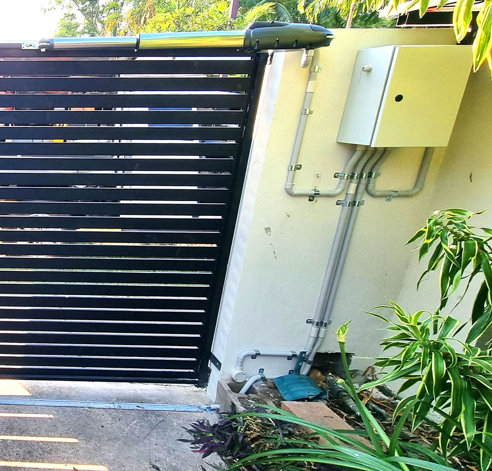 Swing Gate Motor installed by Dunwrights Air & Electrical Darwin
